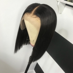 13A Lace Front Wig 150% Density Straight Short BOB Hair Virgin Hair 13x4 Lace Frontal Human Hair Middle Part Wigs For Black Women Hair  Free Shipping