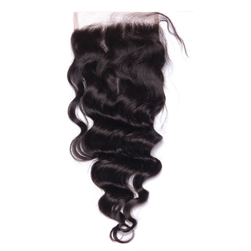 【12A】 4*4 High Quality Loose Wave Lace Closure Middle/Free/Three Part Natural Color HumanHair