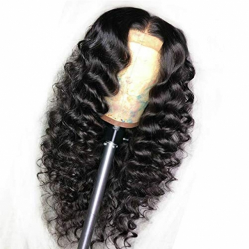13A 13*6 Loose wave 10-24inch Lace Frontal 150% Density Natural Lace Wig Black Virgin Hair Customize in 7 working days Free Shipping