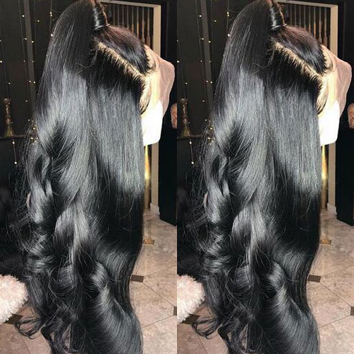 13A 13*6 Body wave 10-24inch Lace Frontal 150% 180% Density Natural Lace Wig Black Virgin Hair Customize in 7 working days Free Shipping